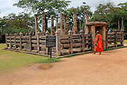 The Lotus Mandapa building, The Quadrangle, UNESCO World Heritage Site, the ancient city of Polonnaruwa, Sri Lanka, Asia