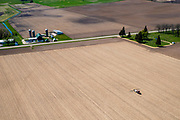 Farmers plant and spray on their fields in rural Wisconsin.
