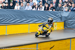 Indoor road style racing was staged on the top floor of the Swiss-Moto Customizing and Tuning Show. This was the pocket bike eliminations that included some very young kids that seem destined for a future in Moto GP! Zurich, Switzerland. Saturday, February 23, 2019. Photography ©2019 Michael Lichter.Swiss-Moto Customizing and Tuning Show. Zurich, Switzerland. Saturday, February 23, 2019. Photography ©2019 Michael Lichter.