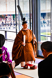 October 22, 2019, Delhi, India: Emperor Naruhito during a ceremony inside the Room of Pine at Tokyo's Imperial Palace to mark Naruhito's official ascension to the throne...Where: Delhi, India.When: 22 Oct 2019.Credit: Dutch Press PhotoCover Images..**NOT AVAILABLE FOR PUBLICATION IN THE NETHERLANDS* (Credit Image: ©  via ZUMA Press)