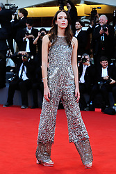 Stacy Martin attending the Vox Lux Premiere as part of the 75th Venice International Film Festival (Mostra) in Venice, Italy on September 04, 2018. Photo by Aurore Marechal/ABACAPRESS.COM