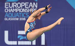 Great Britain's Robyn Birch during the Mixed Team Diving Final during day five of the 2018 European Championships at the Royal Commonwealth Pool, Edinburgh.