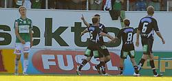 16.06.2011, Keine Sorgen Arena, Ried im Innkreis, AUT, 1.FBL, SV Josko Ried vs Sturm Graz, im Bild Torjubel Sturm Graz, EXPA Pictures © 2011, PhotoCredit: EXPA/ R. Hackl