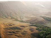 The incredible scenery of the Gran Sabana, seen from the air, near to Mount Roraima, Venezuela