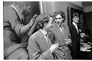 TIM WILLIS; LORD OGILVY, PRIVATE VIEW AT THE RICHARD FEIGEN GALLERY. LONDON. 28 NOVEMBER 1986,<br /> <br /> SUPPLIED FOR ONE-TIME USE ONLY> DO NOT ARCHIVE. © Copyright Photograph by Dafydd Jones 248 Clapham Rd.  London SW90PZ Tel 020 7820 0771 www.dafjones.com