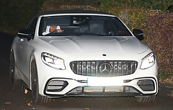 Ashley Young in his Mercedes convertible.