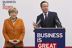 61192452<br /> Chancellor Angela Merkel and David Cameron during CeBIT 2014 Technology Trade Fair, Hanover, Germany, Monday, 10th March 2014. Picture by  imago / i-Images<br /> UK ONLY