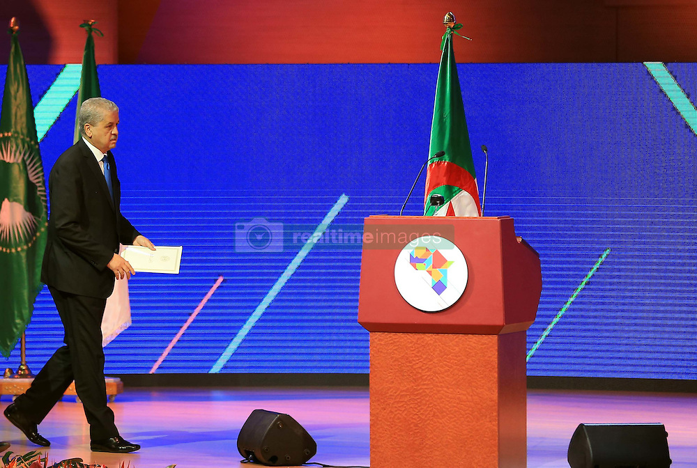 December 3, 2016 - Algiers, Argentina - Prime Minister Abdelmalek Sellal at the African Investment and Business Forum at the International Conference Center Abdellatif Rahal (Club des pins)  in Algiers, Algeria, on 3 December 2016 with no fewer than 1,000 African participants including nearly 800 businessmen from more than 40 African countries. (Credit Image: © Billal Bensalem/NurPhoto via ZUMA Press)