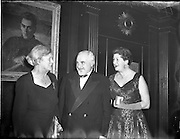 04/01/1956<br /> 01/04/1956<br /> 04 January 1956<br /> Reception by German Minister to Ireland Dr. Hermann Katzenberger for the Irish-German Society at the Gresham Hotel, Dublin.