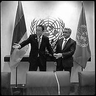 Serzh Sargsyan, President of Armenia,with United Nations Secretary General Ban Ki moon.
