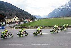 16.04.2013, Hauptplatz, Lienz, AUT, Giro del Trentino, Etappe 1, Lienz nach Lienz, im Bild Team Vini Fantini - Selle Italia // during stage 1, Lienz to Lienz of the Giro del Trentino at the Hauptplatz, Lienz, Austria on 2013/04/16. EXPA Pictures © 2013, PhotoCredit: EXPA/ Johann Groder