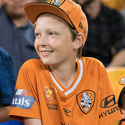 BRISBANE, AUSTRALIA - OCTOBER 7: A Brisbane Roar fan waits for an autograph during the round 1 Hyundai A-League match between the Brisbane Roar and Melbourne Victory at Suncorp Stadium on October 7, 2016 in Brisbane, Australia. (Photo by Patrick Kearney/Brisbane Roar)