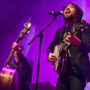 FAIRFAX, VA - February 28th, 2014 - Bob Crawford and Scott Avett of The Avett Brothers perform at the Patriot Center in Fairfax, VA. Their latest album, Magpie and the Dandelion, reached #5 on the U.S. Billboard 200 chart. (photo by Kyle Gustafson / For The Washington Post)