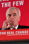 London, United Kingdom - 9 December 2019<br /> John McDonnell gives an economics speech in the run up to the general election 2019, on behalf of the Labour Party at Coin Street Community Builders, London, England, UK.<br /> (photo by: EQUINOXFEATURES.COM)<br /> Picture Data:<br /> Photographer: Equinox Features<br /> Copyright: ©2019 Equinox Licensing Ltd. +443700 780000<br /> Contact: Equinox Features<br /> Date Taken: 20191209<br /> Time Taken: 11345900<br /> www.newspics.com