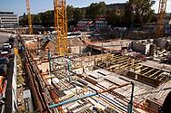 large construction site for an office building in the MesseCity in the district Deutz, Cologne, Germany.<br /> <br /> Grossbaustelle eines Buerohauses in der MesseCity im Stadtteil Deutz, Koeln, Deutschland.