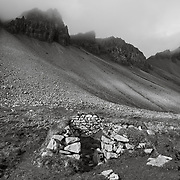 Ruin at Vestrahorn