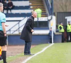 Raith Rovers manager John Hughes. Raith Rovers 1 v 1 Hibernian, Scottish Championship game played 18/2/2017 at Starks Park.