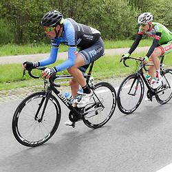 14-05-2016: Wielrennen: Ronde van Overijssel: Rijssen    <br />RIJSSEN (NED) wielrennen<br />Met 64 edities is de ronde van Overijssel een van de oudste wielerkoersen in Nederland. Oscar Riesebeek, Marco Doet, Jelle Wolsink onderweg richting Weerselo
