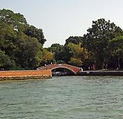 Bridge next to the lagoon in Venice, Italy.
