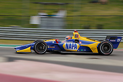 March 23, 2019 - Austin, TX, U.S. - AUSTIN, TX - MARCH 23: Alexander Rossi (27) in the NAPA AUTO PARTS, Honda powered Dallara IR-18 at turn 19 during Practice 3 at the IndyCar Classic held March 22-24, 2019 at the Circuit of the Americas in Austin, TX. (Photo by Allan Hamilton/Icon Sportswire) (Credit Image: © Allan Hamilton/Icon SMI via ZUMA Press)