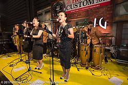 Live music at Mooneyes 26th Annual Yokohama Hot Rod and Custom Show pre-party at the Pacifico Hall, Yokohama, Japan. Saturday December 2, 2017. Photography ©2017 Michael Lichter.