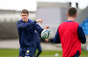 Sale Sharks centre Sam James and his brother Luke James warm up before the game during a Gallagher Premiership Round 14 Rugby Union match, Sunday, Mar 21, 2021, in Eccles, United Kingdom. (Steve Flynn/Image of Sport)