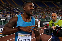Justin GATLIN USA 100m Men <br /> Roma 04-06-2015 Stadio Olimpico<br /> IAAF Diamond League 2015 Rome<br /> Golden Gala Meeting - Track And Field Athletics Meeting<br /> Foto Sebastian Seglingen / ARK / Insidefoto