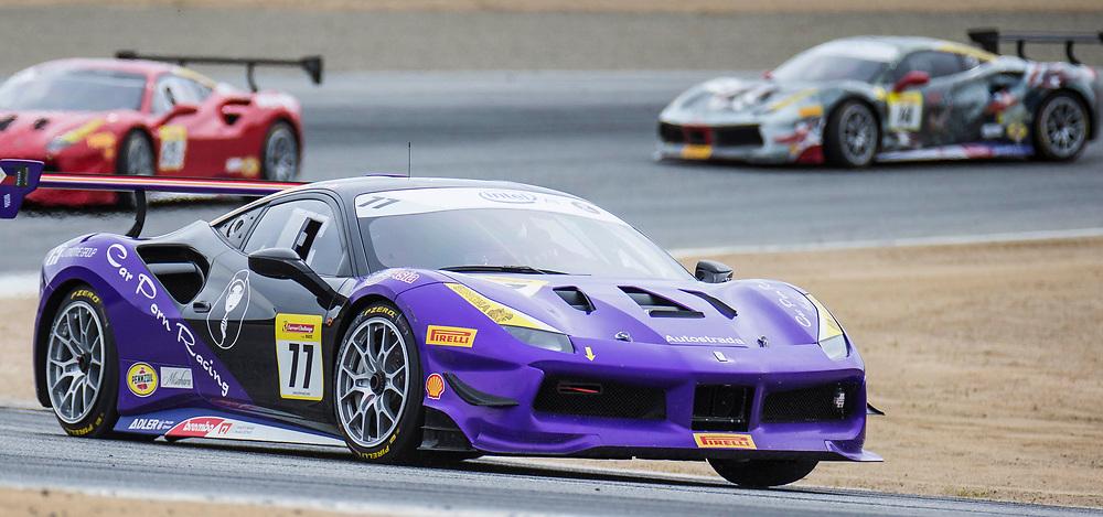 May 6, 2018  Monterey, CA, U.S.A. # during the Ferrari Challenge Trofeo Pirelli Race 2 at WeatherTech Raceway Laguna Seca Monterey, CA  Thurman James / CSM