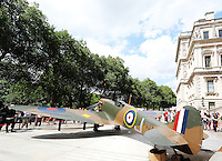 This restored World War Two Vickers Supermarine Spitfire Mk.1A which was shot down over northern France in 1940 during the evacuation of Dunkirk is expected to raise over 1 Million Pounds for the Royal Air Force Benevolent Fund when it goes up for auction at Christie's in London on 09 July.