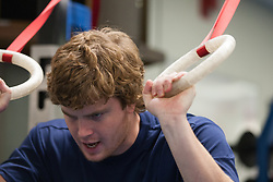 16 November 2007: North Carolina Tar Heels men's lacrosse Tim Kaiser in a weight lifting session in Chapel Hill, NC.