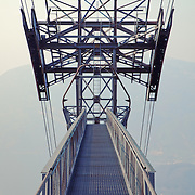 A tower for a cable cars to Mount Rigi above Lake Lucerne, Switzerland.