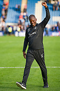 Southend United manager Chris Powell acknowledges the fans during the EFL Sky Bet League 1 match between Gillingham and Southend United at the MEMS Priestfield Stadium, Gillingham, England on 13 October 2018.