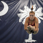Rio Olympian and South Carolina Gamecocks diver Julia Vincent competes during an SEC diving meet against Kentucky in Columbia, S.C. ©Travis Bell Photography