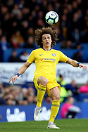Chelsea defender David Luiz (30) during the Premier League match between Everton and Chelsea at Goodison Park, Liverpool, England on 17 March 2019.