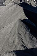 Stock pile of raw coal, Cleveland, Ohio, USA.