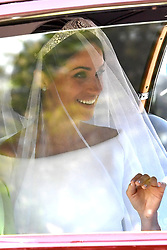 Meghan Markle makes her way to Windsor Castle for her wedding to Prince Harry.