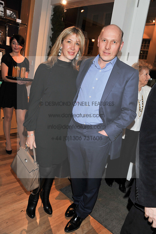 PEREGRINE & CAROLINE ARMSTRONG-JONES at the Linley Christmas party at Linley, 60 Pimlico Road, London on 20th November 2012.