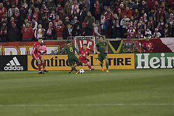 March 10, 2018 - Harrison, New Jersey, United States - Diego Valeri (8) of Portland Timbers controls ball during regular MLS game against New York Red Bulls at Red Bull Arena Red Bulls won 4 - 0 (Credit Image: © Lev Radin/Pacific Press via ZUMA Wire)
