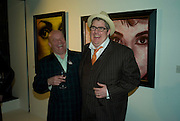 PAUL KARSLAKE AND PHILL JUPITUS, Ideas And Idols - private view of work by Paul Karslake.<br />Scream, 34 Bruton Street, London, W1, 6.30-8.30pm<br />21 February 2008.  *** Local Caption *** -DO NOT ARCHIVE-© Copyright Photograph by Dafydd Jones. 248 Clapham Rd. London SW9 0PZ. Tel 0207 820 0771. www.dafjones.com.