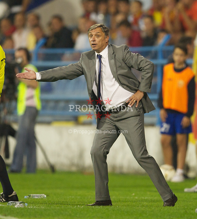 PODGORICA, MONTENEGRO - Friday, September 3, 2010: Montenegro's head coach Zlatko Kranjcar during the opening UEFA Euro 2012 Qualifying Group 4 match against Wales at the Stadion Podgorica. (Pic by David Rawcliffe/Propaganda)