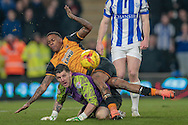 Keiren Westwood (Sheffield Wednesday) makes a vital save denying Abel Hernández (Hull City) the opening goal during the Sky Bet Championship match between Hull City and Sheffield Wednesday at the KC Stadium, Kingston upon Hull, England on 26 February 2016. Photo by Mark P Doherty.