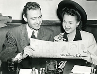 1942 Jane Withers & A.C. Lyle Jr. at The Brown Derby in Hollywood