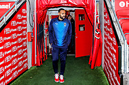 Wimbledon midfielder Liam Trotter (14) arrives during the The FA Cup 3rd round match between Fleetwood Town and AFC Wimbledon at the Highbury Stadium, Fleetwood, England on 5 January 2019.