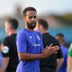 TELFORD COPYRIGHT MIKE SHERIDAN Brendon Daniels of Telford during the National League North fixture between Blyth Spartans and AFC Telford United at Croft Park on Saturday, September 28, 2019<br /> <br /> Picture credit: Mike Sheridan<br /> <br /> MS201920-023