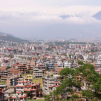 Asia, Nepal, Kathmandu. Kathmandu cityscape.