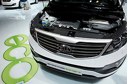 Kia mild hybrid electric Sportage car Paris Motor Show 2010
