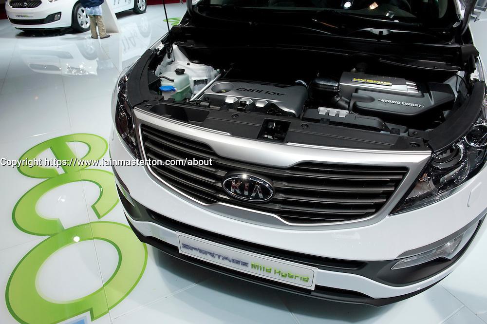 Kia mild hybrid electric Sportage car Paris Motor Show 2010
