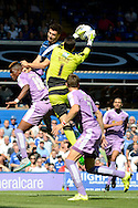 Jonathan Bond claims the ball during the Sky Bet Championship match between Birmingham City and Reading at St Andrews, Birmingham, England on 8 August 2015. Photo by Alan Franklin.
