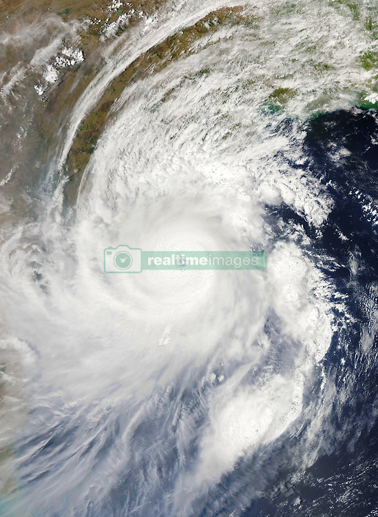May 2, 2019 - Bengal - As Tropical Cyclone Fani bore down on the eastern coast of India, the storm gained significant strength over the past 24 hours. The Moderate Resolution Imaging Spectroradiometer (MODIS) on NASA's Auqa satellite acquired this natural-color image at 1:02 p.m. India Standard Time (07:32 Universal Time) on May 2, 2019. Around that time, the storm had sustained winds of 135 knots (155 miles/250 kilometers per hour). That's the equivalent of a category 4 storm on the Saffir-Simpson wind scale. (Credit Image: © NASA Earth Observatory/ZUMA Wire/ZUMAPRESS.com)
