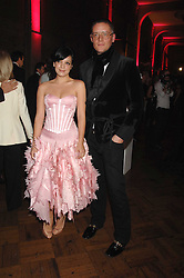 LILY ALLEN and GILES DEACON at the British Fashion Awards 2007 held at the Royal Horticultural Halls, Vincent Square, London on 28th November 2007.<br />